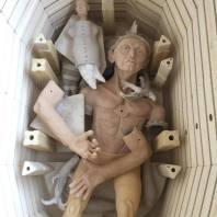 man in kiln