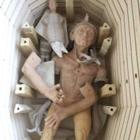 man in kiln